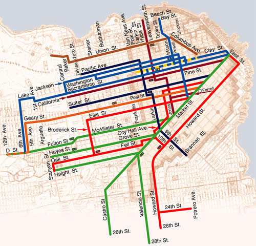 sf bus map with Cable Car Routes Explained on Rajasthanrails further Bus Stops likewise Sprrg Osian Chlorophyll Chennai together with Walksf49 besides Thrillist Map Of Bars Near Muni Metro Stops.