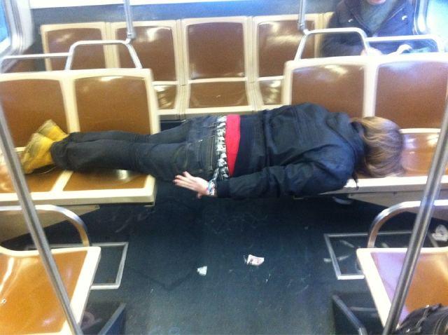 'Planking' on Muni