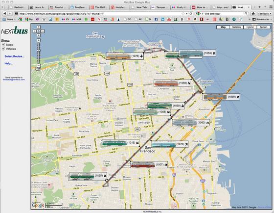 N Owl Next Bus NextBus Live Maps now show