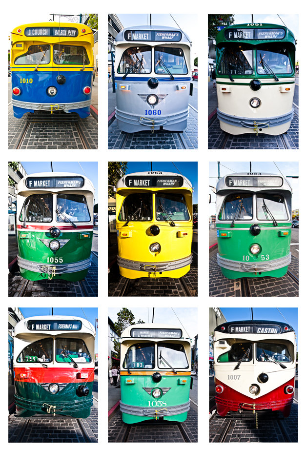 Beautiful Muni Streetcar Posters for Sale