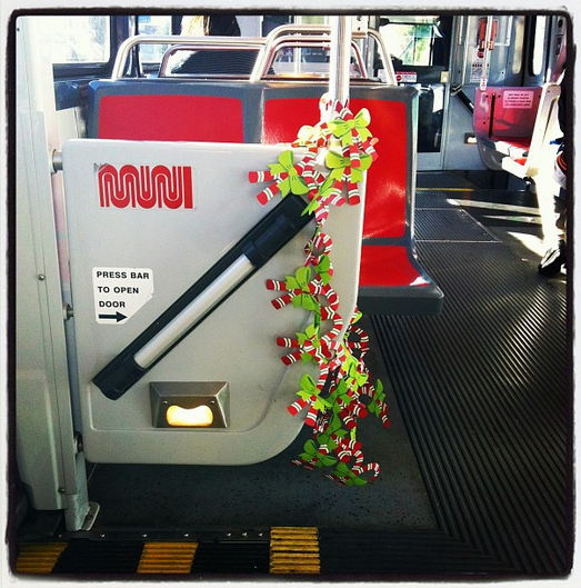 christmas garland on muni by kittttycaat__