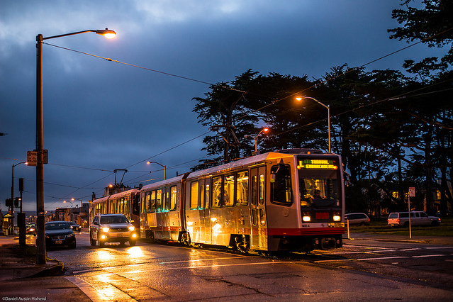 muni in the rain by WarzauWynn