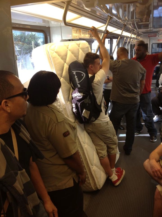 Mattress on Caltrain