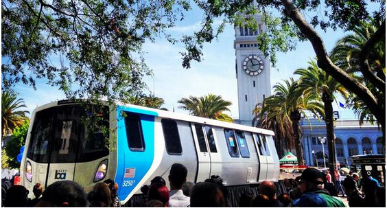 Check Out BART's New Train Cars at Justin Herman Plaza Today