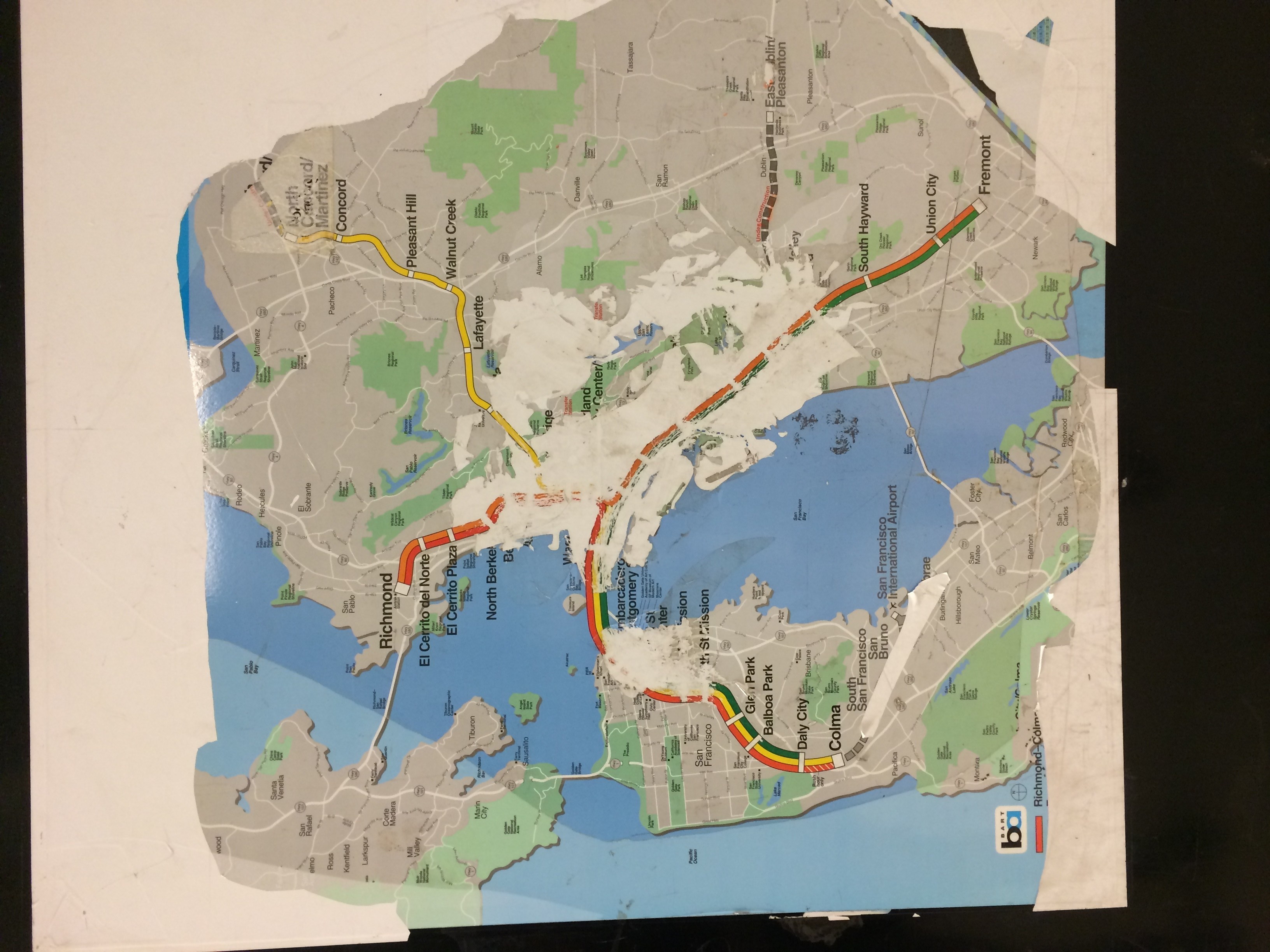 San Francisco Map Of Things To Do%0A BART map from ye nottoodistant dayes