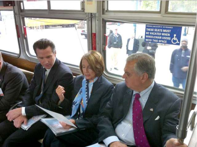 newsom pelosi lahood on muni