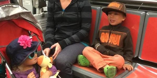 Kid dons Muni outfit on Muni Metro, rules the school