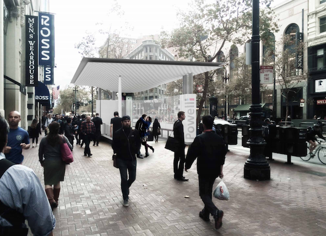 bart station canopy & Look out for a new glass canopy at Powell and Civic Center BART ...