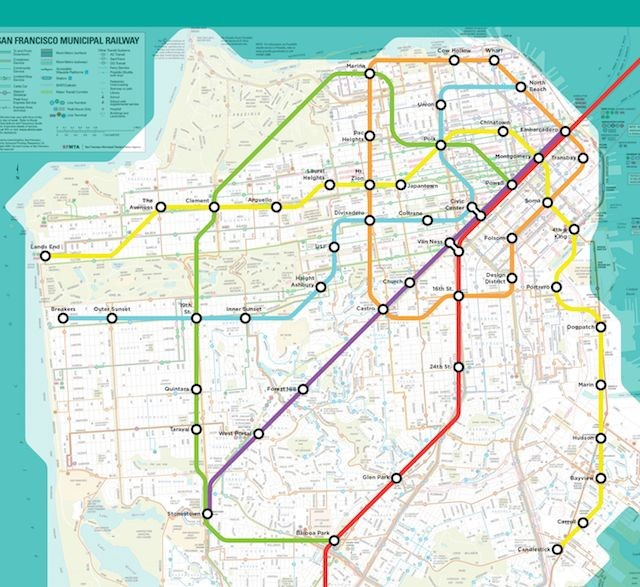 Check out this visionary Muni Metro map