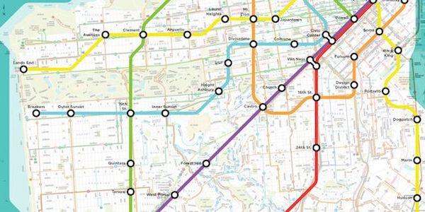 San Francisco Muni Metro Map.Check Out This Visionary Muni Metro Map