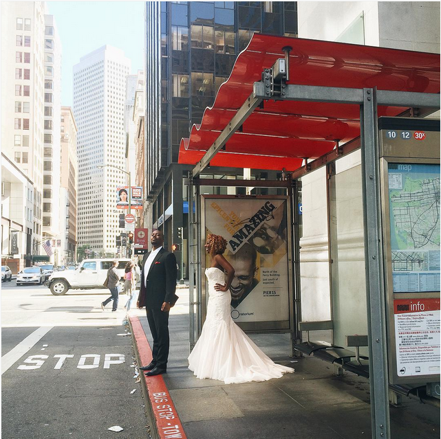 muni stop wedding bride groom by mariel_v