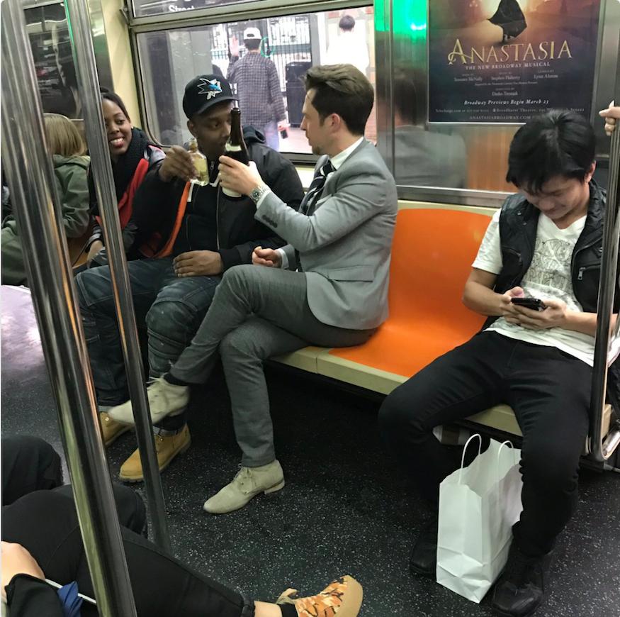 colleenhagerty nyc subway wine