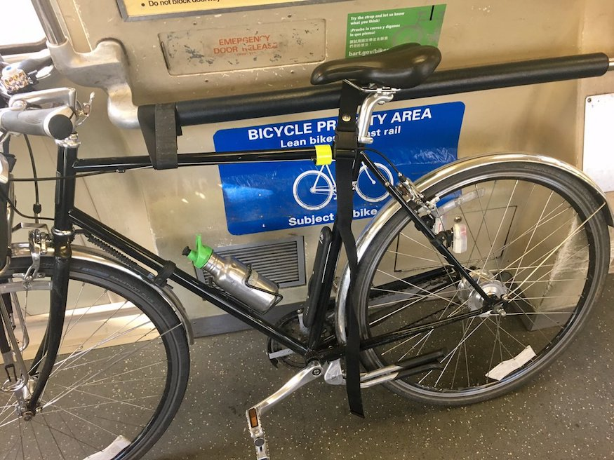 bike strap on BART by prinzrob