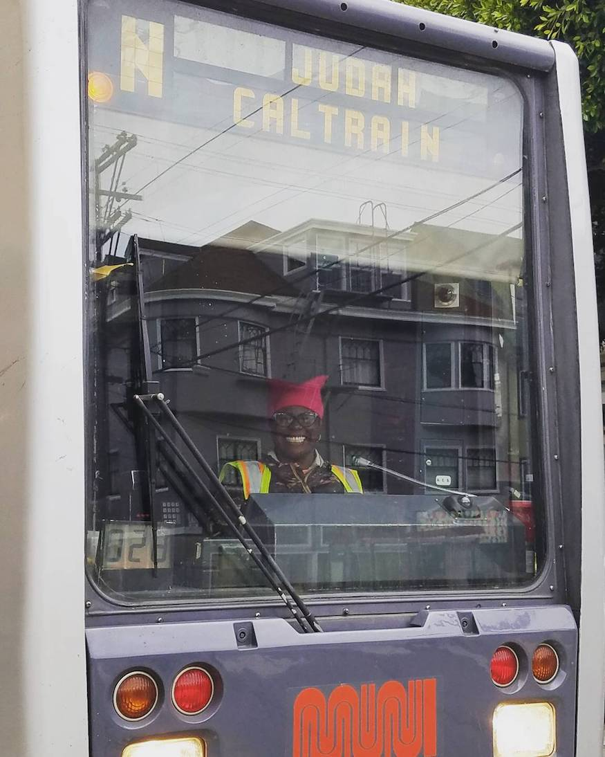 muni diaries n judah driver pussy hat by rebeccafoxmetalsculpture