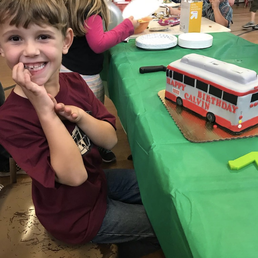 You Want To Be A Kid All Over Again Train Obsessed And Pro Muni Rider Calvin Just Celebrated His Birthday With Possibly The Most Best Cake Ever