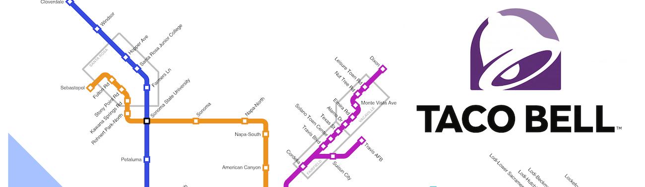 Sf Subway Map Dream.If Taco Bell Built Bart